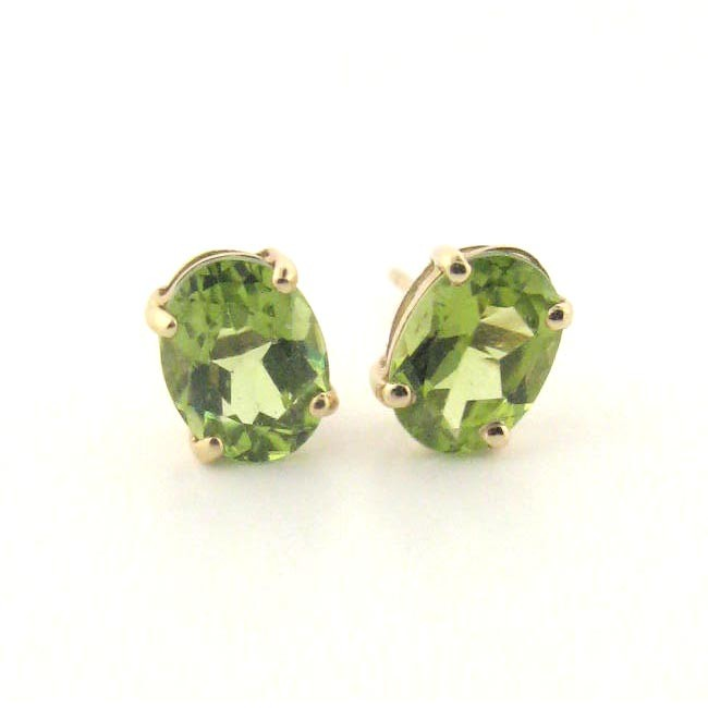 Peridot Studs 
