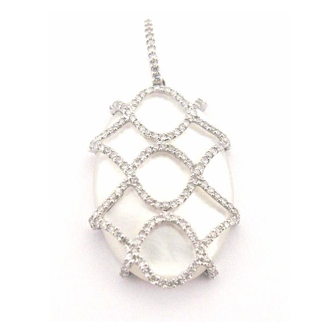 Mother Of Pearl &amp; Diamond Pendant 