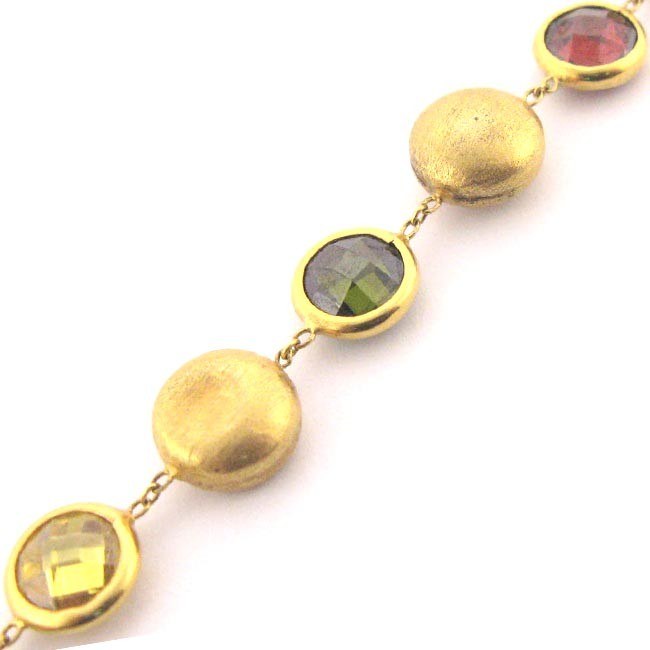 Gold &amp; Gemstone Bracelet