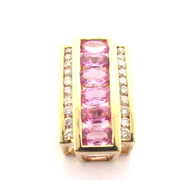 Pink Topaz &amp; Diamond Slide