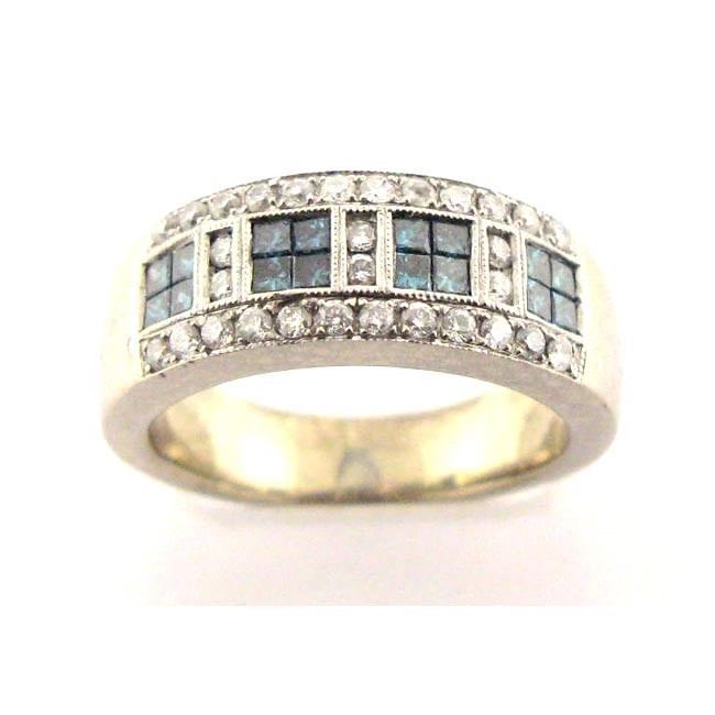 Blue & White Diamond Band