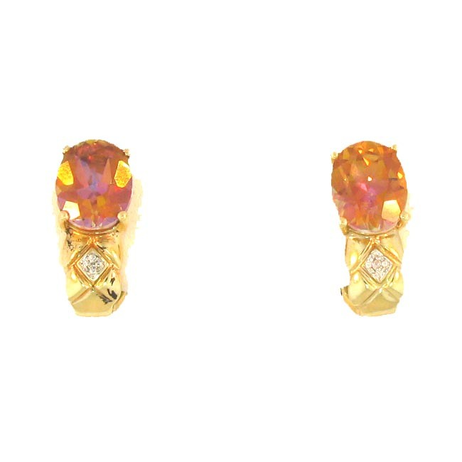 Twilight Topaz & Diamond Earrings