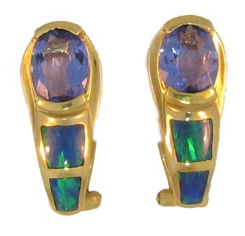 Tanzanite & Opal Earrings
