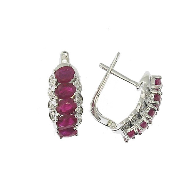 Rubies and Diamond Earrings