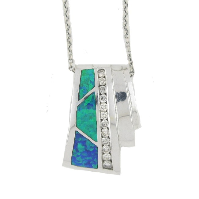 Gilson Opal & Diamond Necklace