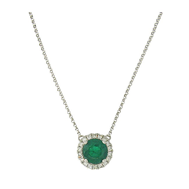 Emerlad and Diamond Necklace