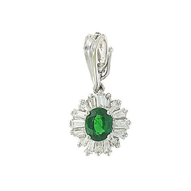 Tsavorite and Daimond Pendant
