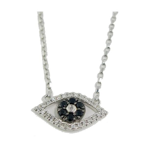 Black Diamond Evil Eye Necklace