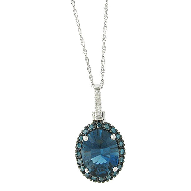 pendant products jewels gold ct cut vir princess blue diamond in white