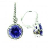 Tanzanite & Diamond Drop Earring