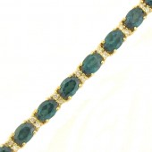 Green Topaz & Diamond Bracelet