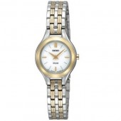 Seiko Solar White Dial Ladies Watch