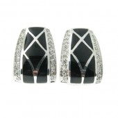 Onyx &amp; Diamond Earrings