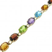 Multicolored Gemstone Bracelet