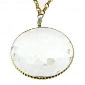 White Sapphire & Diamond Necklace