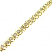 Diamond Spiral Tennis Bracelet