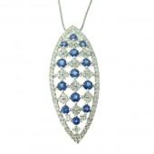 Sapphire & & Diamond Pendant