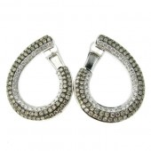 Campaign & White Diamond Fancy Hoop Earrings