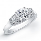18k White Gold  Diamond Semi Mount