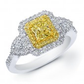 14k Gorgeous Yellow Natural Diamond Ring