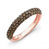 14k Rose and Black Gold Brown Diamond Band