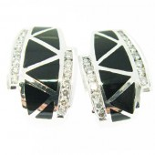 Black Onyx & Diamond Earrings