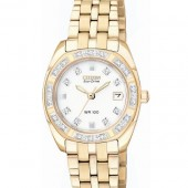 Citizen EW1593-58A Women's MOP Diamond Paladion Rose Gold Color Watch