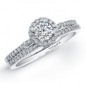 14k White Gold Petite Diamond Bridal Set