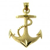 Gold Anchor Pendant