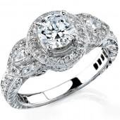 14k White Gold Luxurious Diamond Semi Mount
