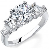14k White Gold Channel Pave and Prong Diamond Semi Mount