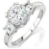 18k White Gold Simple Ladies Diamond Semi Mount