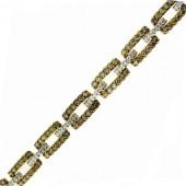 Toffee Brown and White Diamond Bracelet