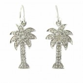 Diamond Palm Tree Earrings