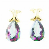 Rainbow Topaz Drop Earrings
