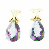 Rainbow Topaz Drop Earrings