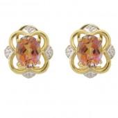 Twilight Topaz & Diamond Earrings