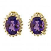 Amethyst & Diamond Earrings
