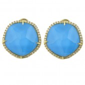 Turquoise & Diamond Earrings