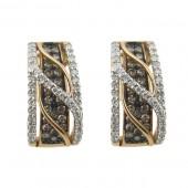 Toffee Brown & Diamond Earrings