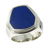 Men's Silver Onxy Ring
