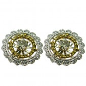 Diamond Studs with Diamond Jackets