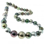 Grey Black Fresh Water Pearl Necklace
