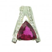 Rubellite & Diamond Slide