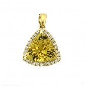 Yellow Emerald & Diamond Pendant
