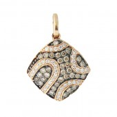 Fancy Brown and White diamond pendant