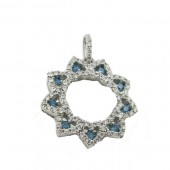 Blue & White Diamond Pendant