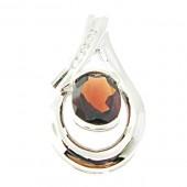 Garnet & Diamond Pendant