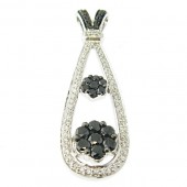 Black & White Diamond Pendant