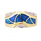 Gilson Opal & Diamond Ring